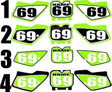 1994-1995 Kawasaki KX 125 250 Number Plates Side Panels Graphics Decal