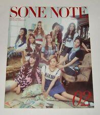 SNSD Girls' Generation JAPAN OFFICIAL FANCLUB MAGAZINE Vol.02 SONE NOTE