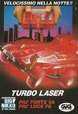 X4091 GIG Nikko - Turbo laser velocissimo nella notte - Pubblicità 1991 - Advert