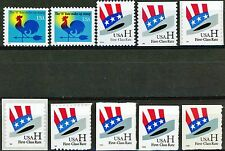 H Rate Series Complete Set of All 10 Stamps Scott's Range from 3257 to 3269