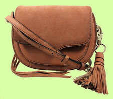 REBECCA MINKOFF 'Mini Suki' Almond Leather & Suede  X-Body Bag Msrp $245.00