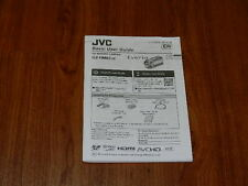 Manual User Guide for JVC GZ-HM65 Digital Video Camera Camcorder LYT2608-001A