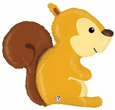 "XL 36"" Squirrel Woodland Critter Mylar Foil Balloon Super Shape Party Decoration"