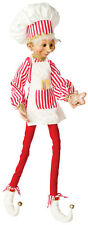 Christmas Baking Elf 30 inches Bakers Hat and Apron fdchxn 302437 NEW posable