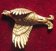 Lovely Pewter Scottish Blackcock Grouse  Pin Brooch