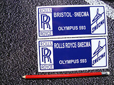 2 X CONCORDE STICKERS ENGINE COVER  AVIATION AEROPLANE AIRLINER SUPERSONIC