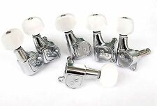Jin HO 6 inline guitar machine heads, tuners, quality Korean parts New Chrome
