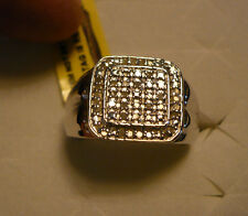 MENS Diamond Ring Size 13 53 diamonds .40tcw MSRP$1323
