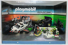 PLAYMOBIL TOP AGENTS HUGE STORE DISPLAY WITH LOTS OF SETS 4876 4878 4880 RARE