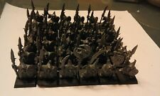 WARHAMMER-BATTLE FOR SKULL PASS-36x NIGHT GOBLIN SPEARMEN + COMMAND-GW
