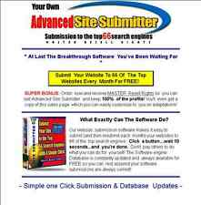 Submit Your Website To The Top Search Engines Software With Resale Rights - CD
