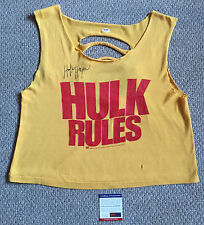 Vintage HULK HOGAN Signed WWF Original HULK RULES Tank Top Shirt WWE PSA/DNA COA