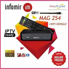 MAG254 IPTV TOP BOX+ WIFI DONGLE SPEDIZIONE 24H