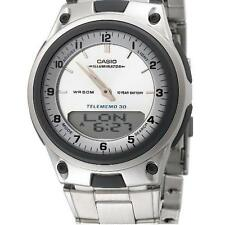 Casio Men's Analogue & Digital Calendar Luminous Stop Watch, Stainless Steel
