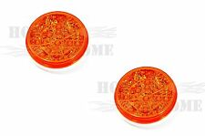 """2pcs x 4"""" Round 17 Amber LED Light with Amber Lens with PL-3 plug"""