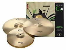 Stagg CXG-SET Brass Starter Cymbal Set with 13-Inch Hi-Hats, 16-Inch Crash and 1