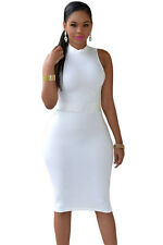 New Women White Short Body-con Cocktail Evening CutOut Summer Dress Free Fashion
