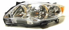 Toyota Corolla USA 2009-2013 Left Front head lamp lights for CE/LE models CHROME