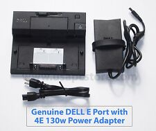 Dell Docking E Port PR03X E6400 E6410 E6420 E6430 E6500 + PA-4E adapter 130w