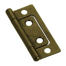 "Non-mortise Hinges - Antique Brass 2"" - Bulk Lot. 100 Hinges with Screws"