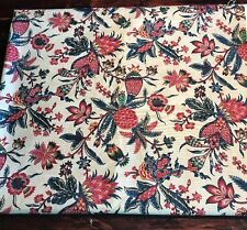 "Vintage Colonial Williamsburg Design Indienne Fabric 4.5yards x54""wide"