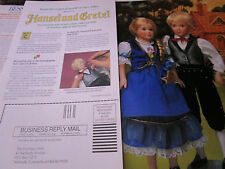 Danbury Mint HANSEL AND GRETEL Doll Ad Advertisement ONLY