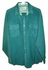 Vintage 60's Sports Afield Green Pockets Button Front Shirt Mens XL 17