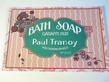 Old Vintage 1940's - French Soap Label - BATH SOAP - Paul Tranoy - PARIS