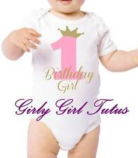 Baby Girl 1st Birthday Princess Crown Onesie