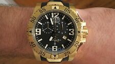 Invicta Reserve Excursion Chronograph Men's Watch Black Gold Swiss Made 6268