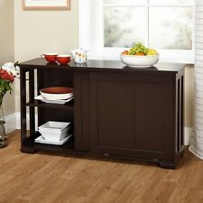 Sideboard Buffet Table Server Cabinet Storage Shelves Dining Room Furniture New