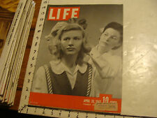 "Vintage Life Magazine: APRIL 26 1943: ""JANGO""; RADIO CITY MUSIC HALL; TUNISIA #2"