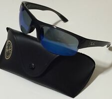 NWT RAY BAN Men's RB 4173 6006/9A Blue Mirrored/Opaque Grey SUNGLASSES