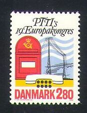 Danemark 1986 post box/téléphone/antennes radio/communications 1v (n34538)