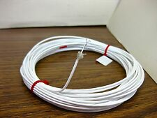 10 feet 26 AWG White Shielded Silver Plated PTFE Wire Coax