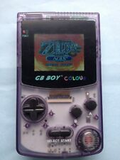 GB Boy Color-Retroiluminado Nintendo Game Boy Color Clon Consola Nuevo Cristal Púrpura