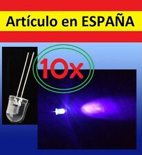 10x DIODO d LASER 500mcd LUZ Ultravioleta UV puntero pointer 400nm dot emisor 30