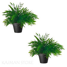 Potted Plant Bamboo Artificial Plastic Home Office House Nature IKEA FEJKA 2x