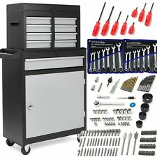 188PC 5 Drawer Rolling Tool Chest Box Professional Lifetime Ratcheting Wrench