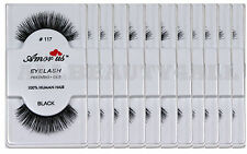 AmorUs 100% Human Hair False Eye lashes#117 (pack of 12pairs) compare Red Cherry