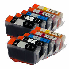 10 Ink for Canon $ CLI-8 PGI-5 Printer PIXMA MX-700 iP-3300 iX4000 MP-510 MP-520