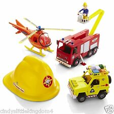 New Fireman Sam rescue playset figures & helmet helicopter engine vehicle set