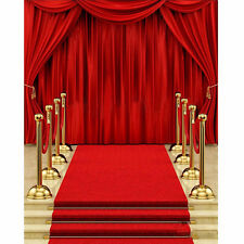 Red Carpet Curtain Backdrop Studio Vinyl Photography Photo Background Prop 5x7FT