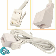 20M RJ11 UK Male To Female BT Extention Cable Extender For Telephone Fax Modem