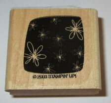 Flowers Box Rubber Stamp Background Stampin' Up! Wood Mounted Retired Floral