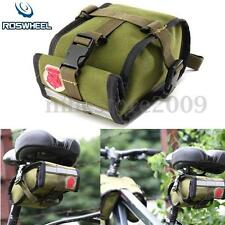 Roswheel Waterproof Canvas Cycling Saddle Bag Bike Bicycle Seat Rear Tail Pouch