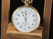 Longines Medical Chronograph 18kt enamel dial Pocket Watch, Around 1910