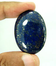 60.90 Ct Natural Oval Cab Blue Lapis Lazuli Gold Flakes Loose Gemstone - 9339