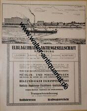 Elblagerhaus/ Gebel Hallore Briketts Magdeburg Große Werbeanzeige v.1922 Reklame