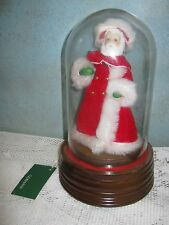 """GORHAM Glass Dome Plays """"Santa Claus Is Coming To Town"""" Music Box VTG Christmas"""